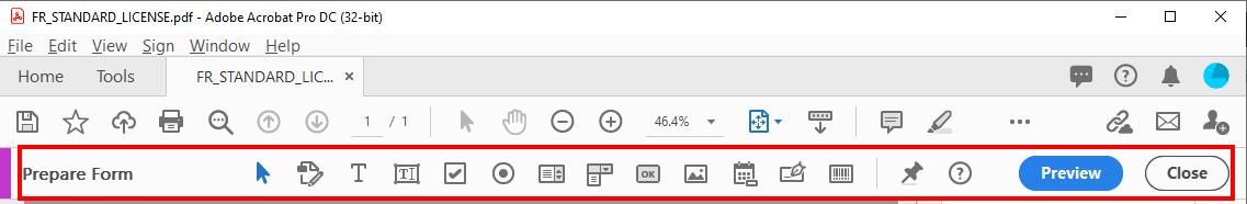 Form Field Toolbar